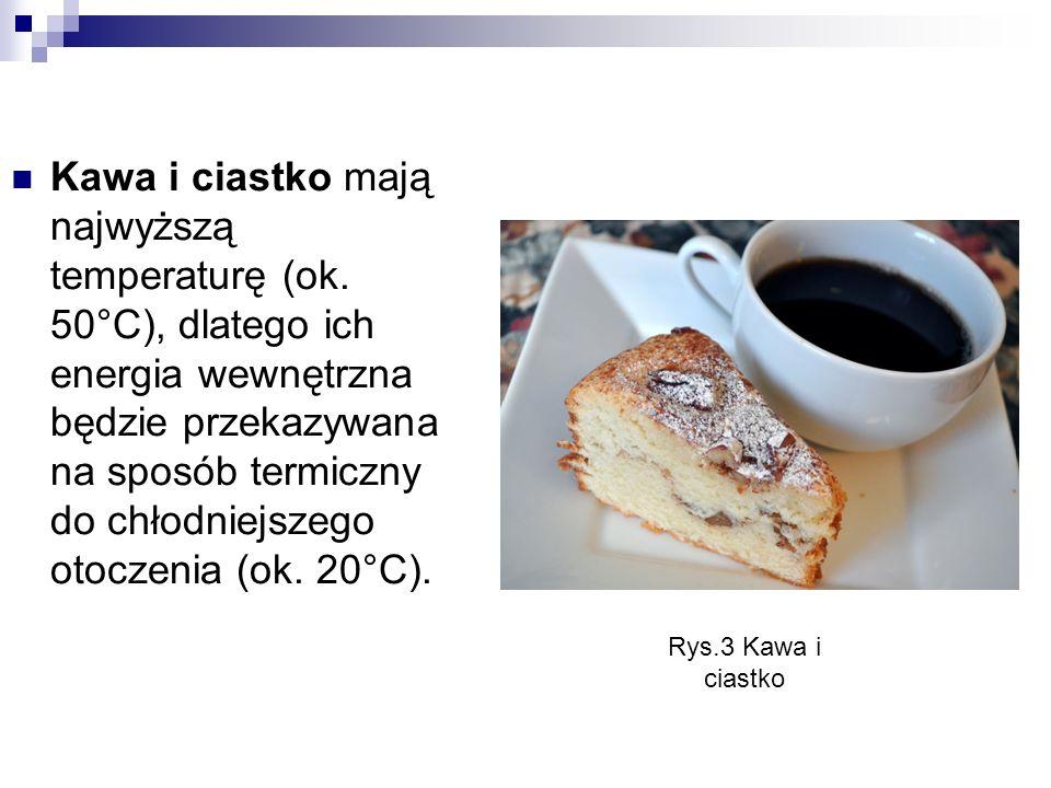 Kawa i ciastko mają najwyższą temperaturę (ok
