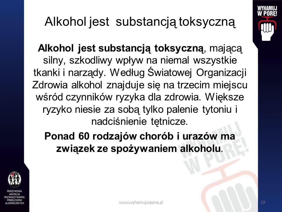 Alkohol jest substancją toksyczną