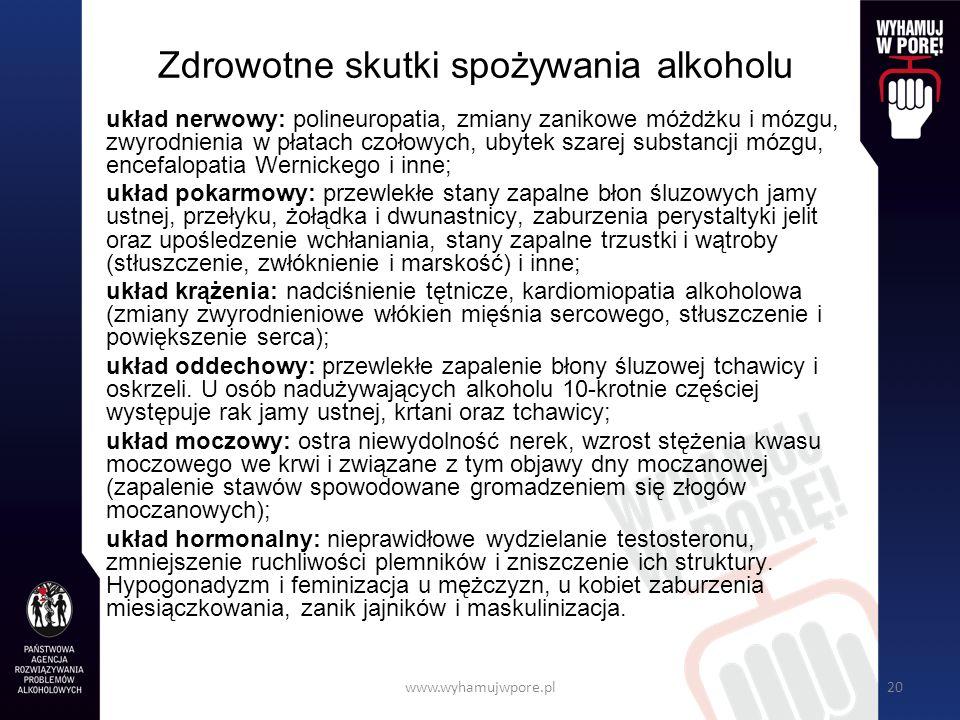 Zdrowotne skutki spożywania alkoholu