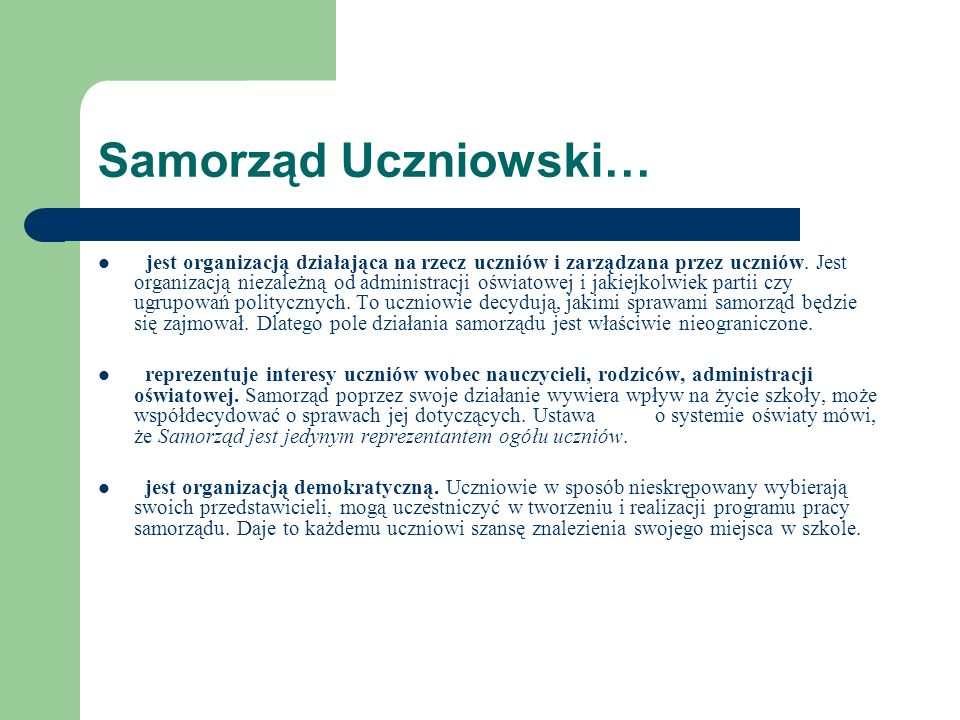 Samorząd Uczniowski…