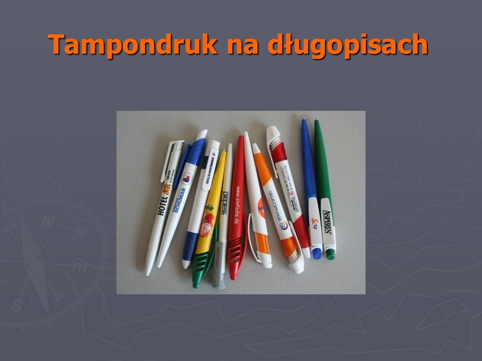 Tampondruk na długopisach