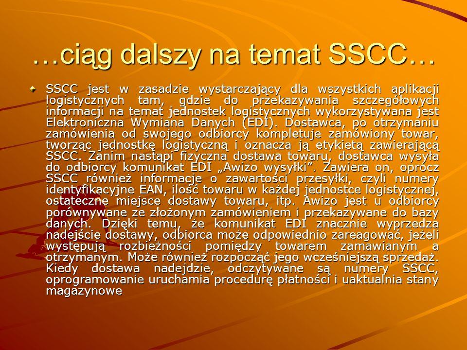 …ciąg dalszy na temat SSCC…