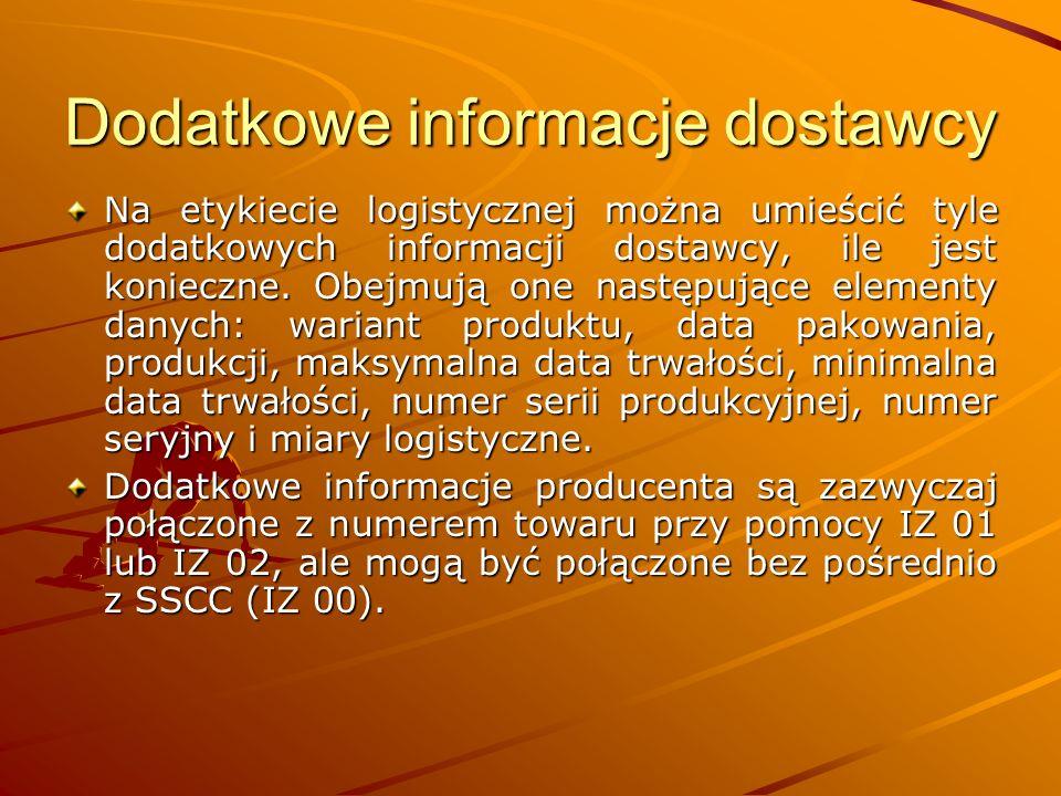 Dodatkowe informacje dostawcy