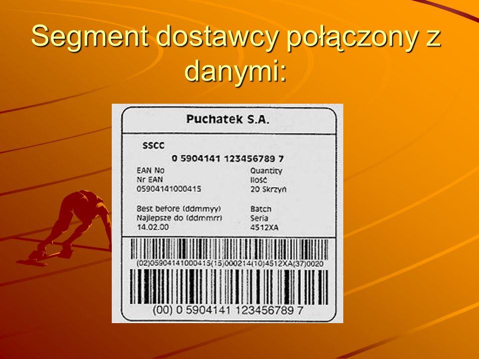 Segment dostawcy połączony z danymi: