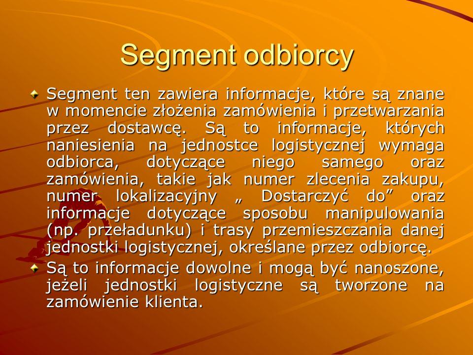 Segment odbiorcy