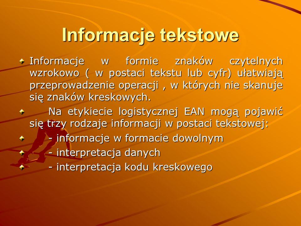 Informacje tekstowe