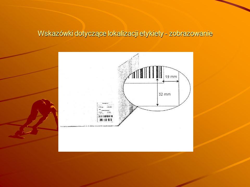 Wskazówki dotyczące lokalizacji etykiety - zobrazowanie