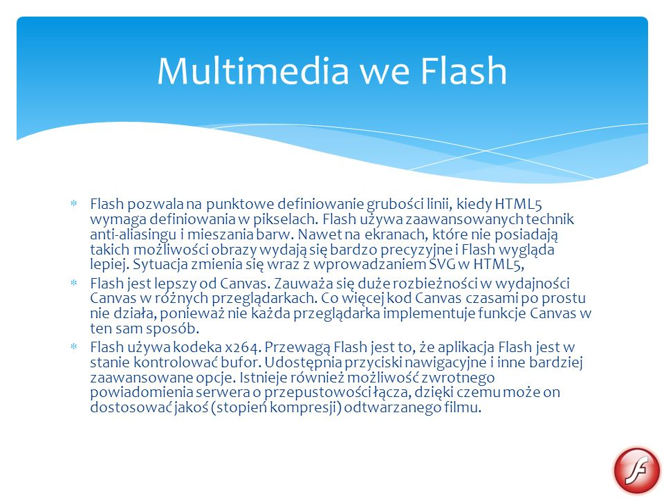 Multimedia we Flash