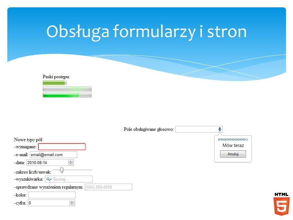 Obsługa formularzy i stron
