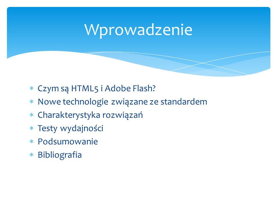 Wprowadzenie Czym są HTML5 i Adobe Flash