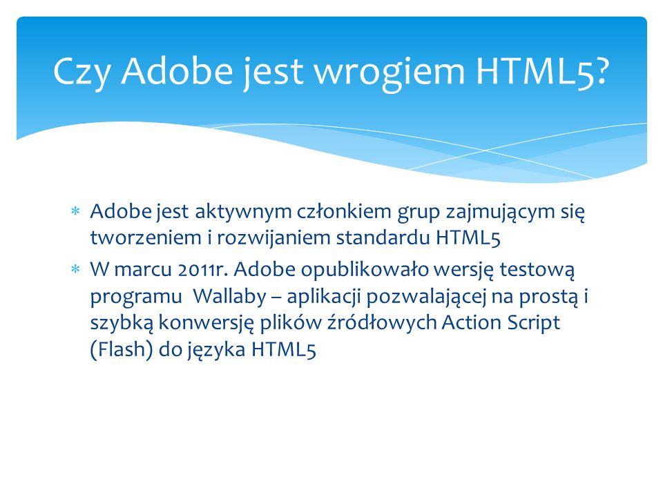 Czy Adobe jest wrogiem HTML5