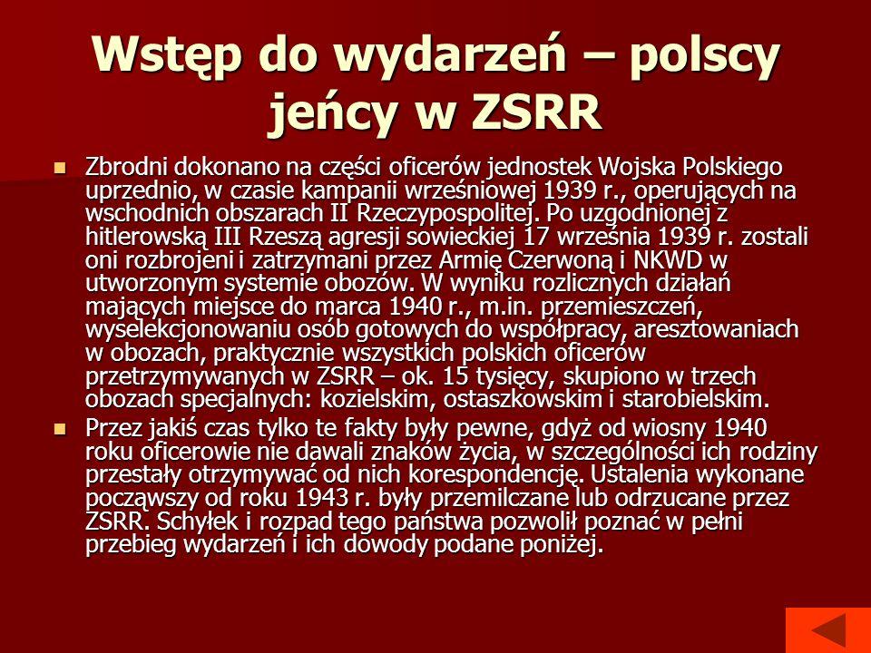 Wstęp do wydarzeń – polscy jeńcy w ZSRR