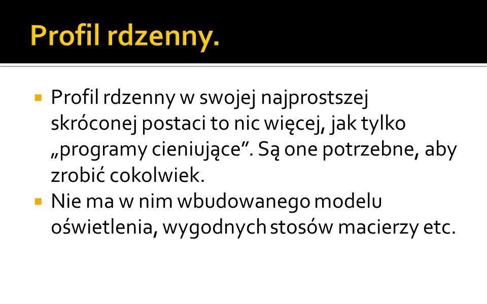 Profil rdzenny.