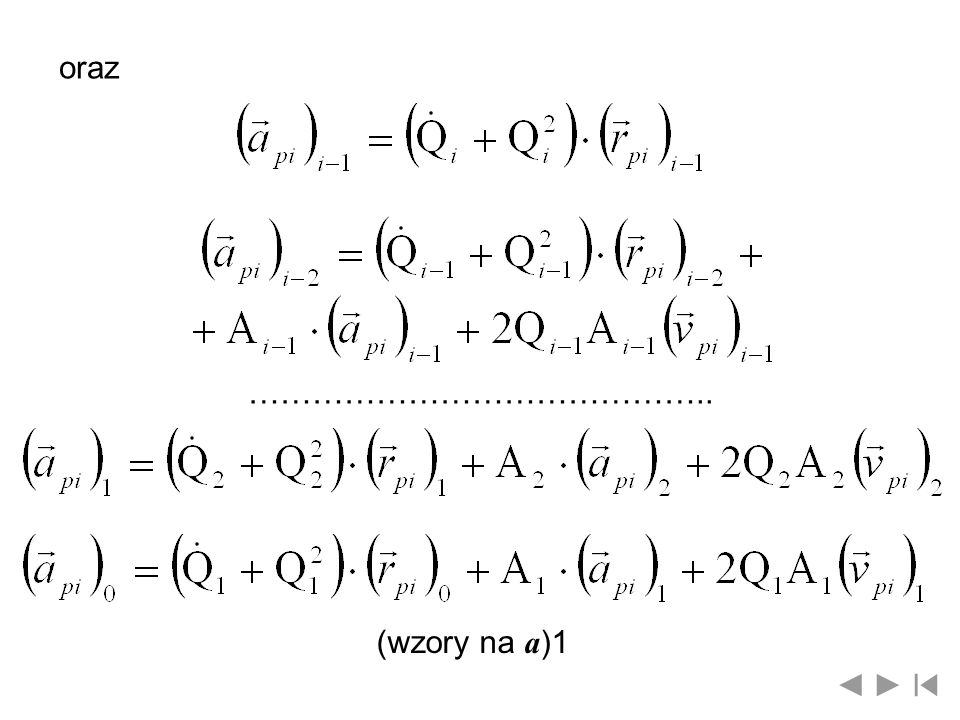 oraz …………………………………….. (wzory na a)1