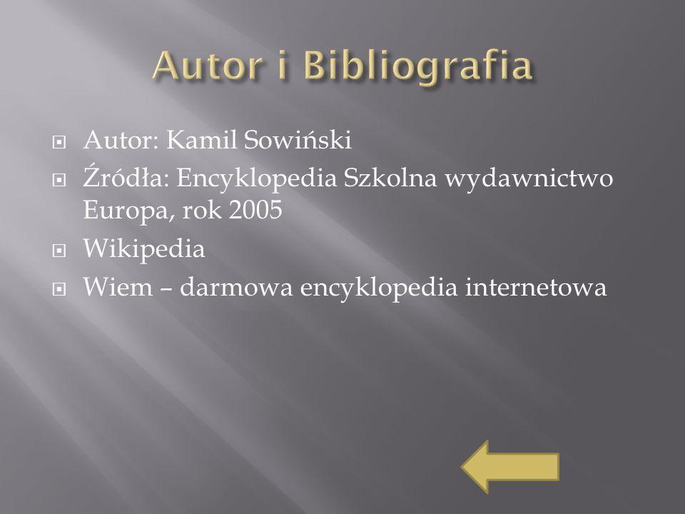 Autor i Bibliografia Autor: Kamil Sowiński
