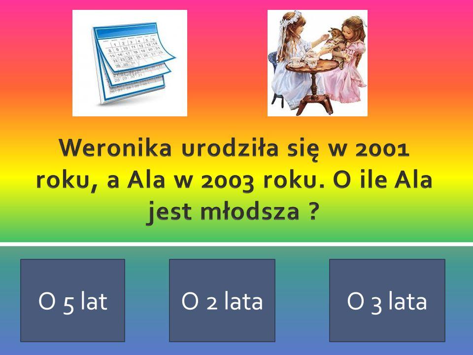 Weronika urodziła się w 2001 roku, a Ala w 2003 roku