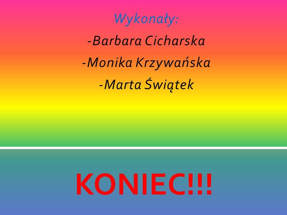 Wykonały: -Barbara Cicharska -Monika Krzywańska -Marta Świątek