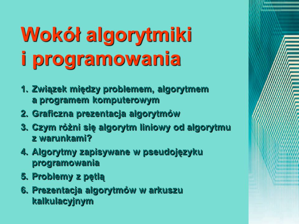 Wokół algorytmiki i programowania