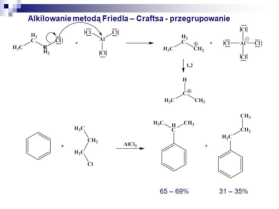 Alkilowanie metodą Friedla – Craftsa - przegrupowanie