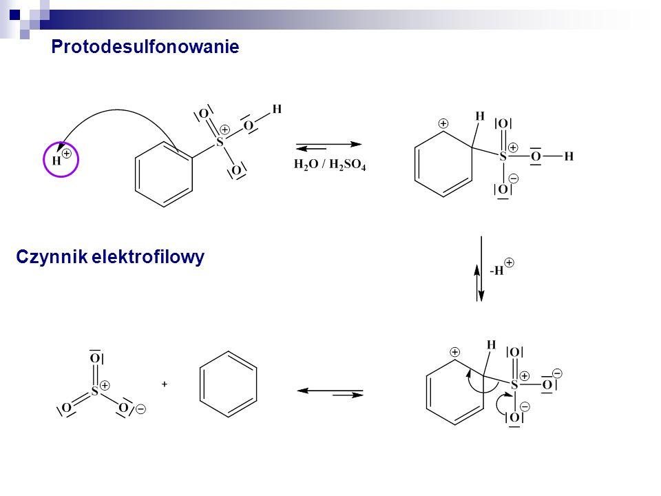 Protodesulfonowanie Czynnik elektrofilowy