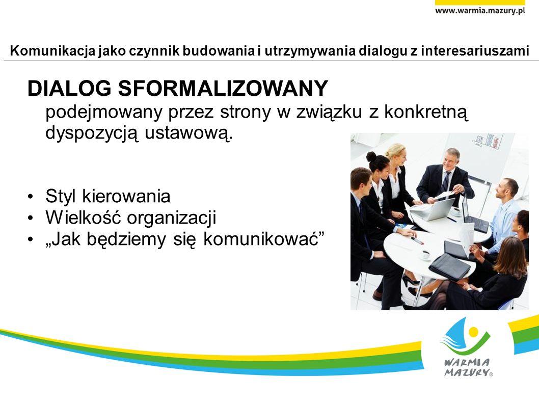 Komunikacja jako czynnik budowania i utrzymywania dialogu z interesariuszami