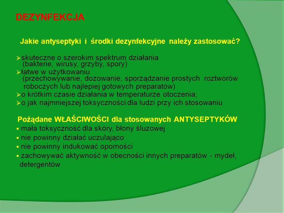 Jakie antyseptyki i środki dezynfekcyjne należy zastosować