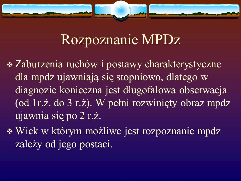 Rozpoznanie MPDz