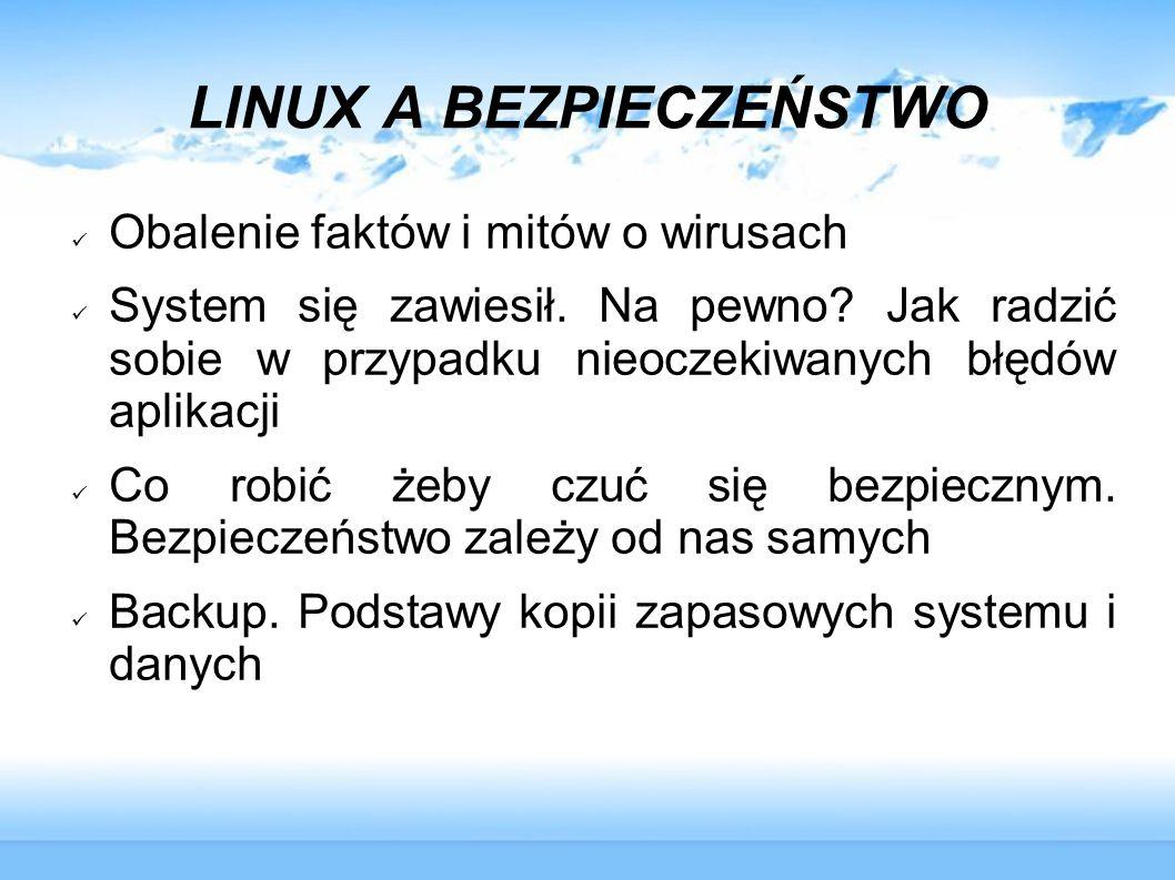 LINUX A BEZPIECZEŃSTWO