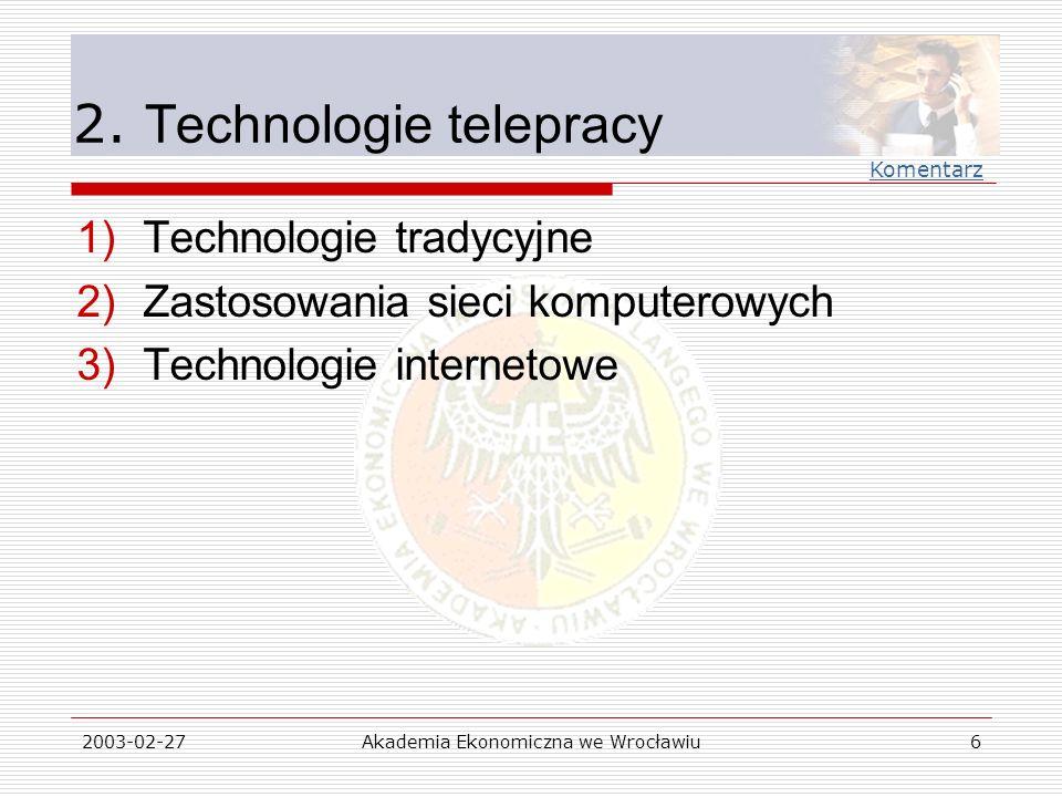 2. Technologie telepracy