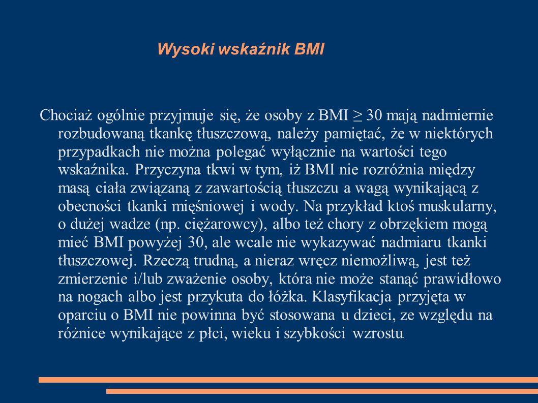 Wysoki wskaźnik BMI