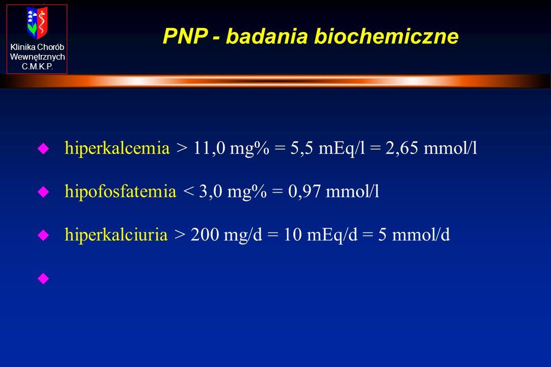 PNP - badania biochemiczne