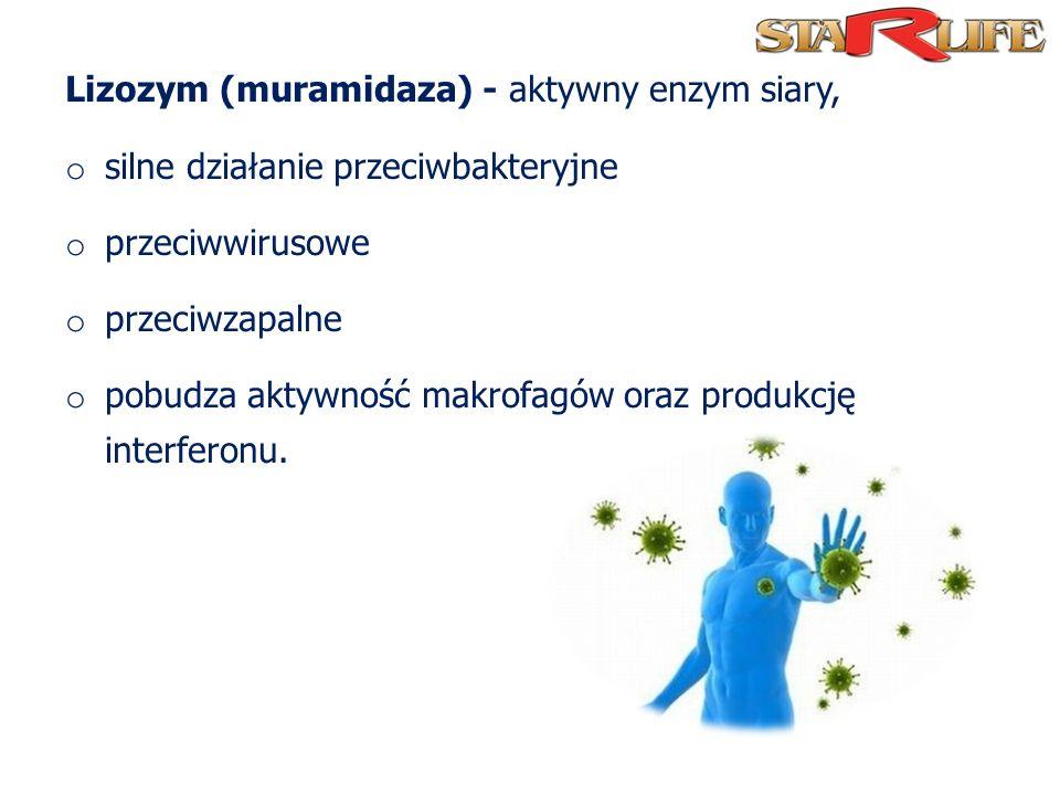 Lizozym (muramidaza) - aktywny enzym siary,
