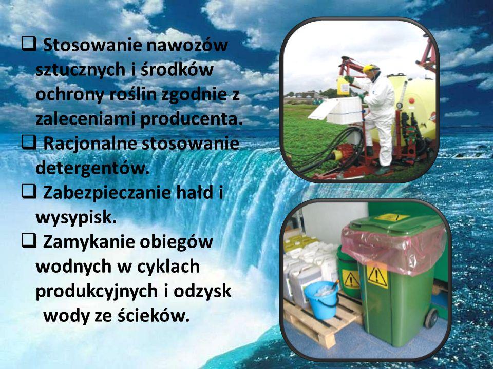 Stosowanie nawozów sztucznych i środków ochrony roślin zgodnie z zaleceniami producenta.