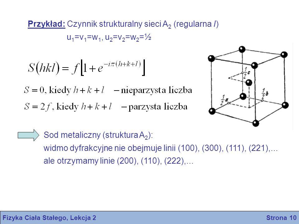 Fizyka Ciała Stałego, Lekcja 2 Strona 10