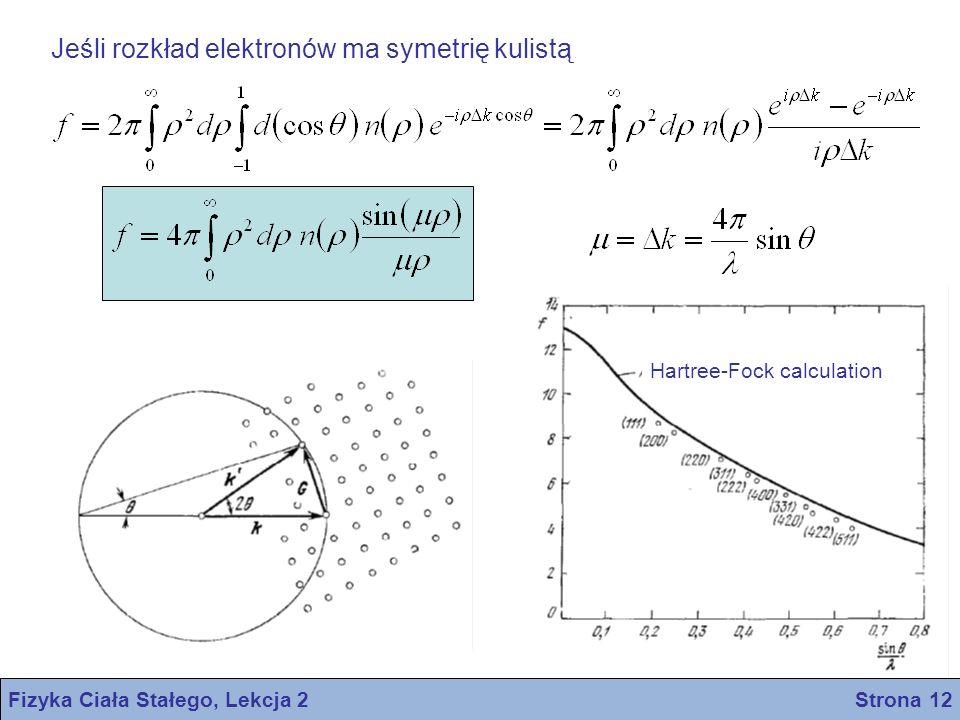 Fizyka Ciała Stałego, Lekcja 2 Strona 12