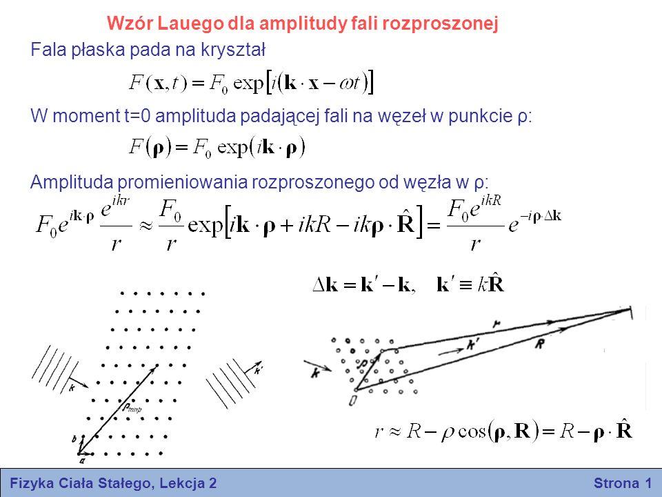 Fizyka Ciała Stałego, Lekcja 2 Strona 1