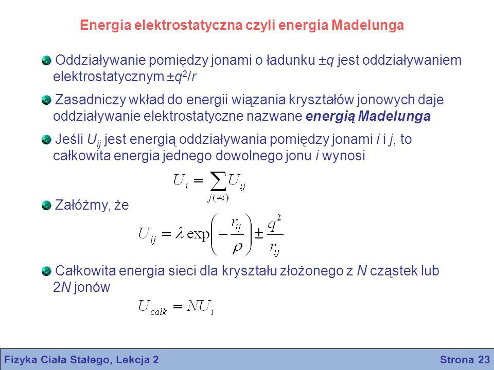 Fizyka Ciała Stałego, Lekcja 2 Strona 23