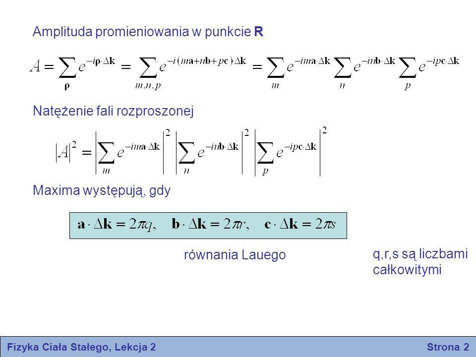 Fizyka Ciała Stałego, Lekcja 2 Strona 2