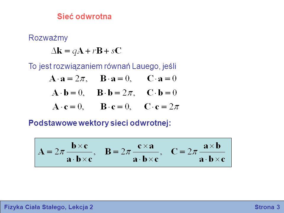 Fizyka Ciała Stałego, Lekcja 2 Strona 3