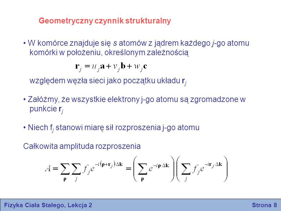 Fizyka Ciała Stałego, Lekcja 2 Strona 8