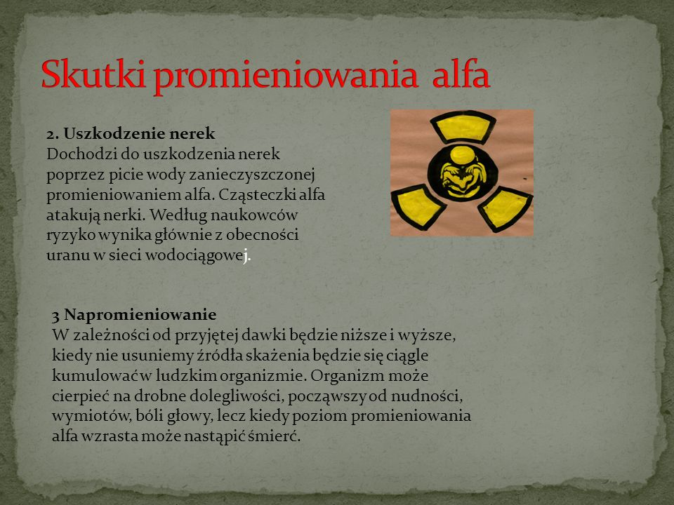 Skutki promieniowania alfa