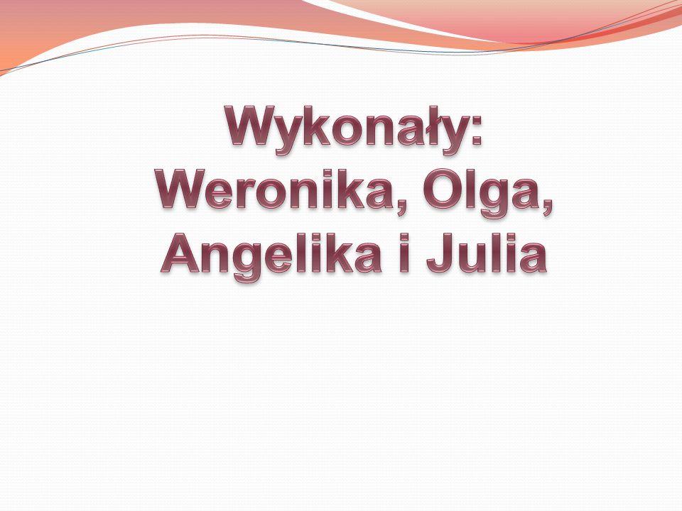 Wykonały: Weronika, Olga, Angelika i Julia