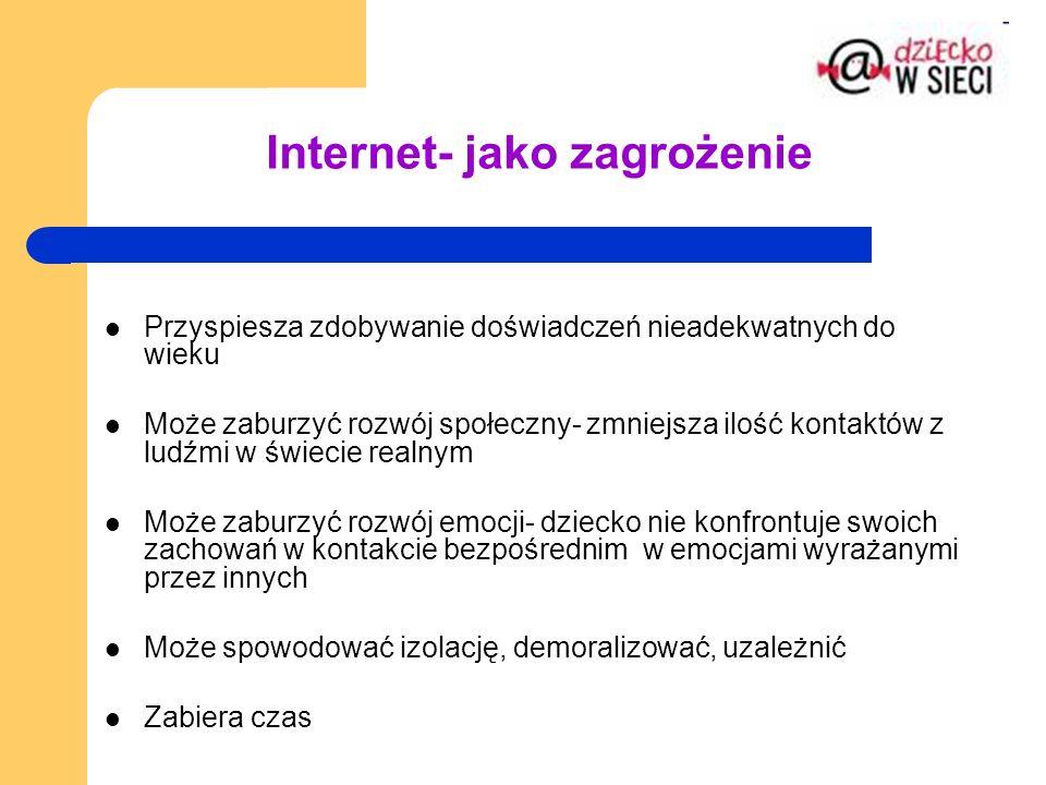 Internet- jako zagrożenie