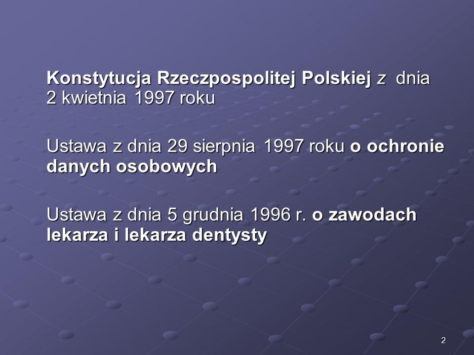 Ustawa z dnia 29 sierpnia 1997 roku o ochronie danych osobowych