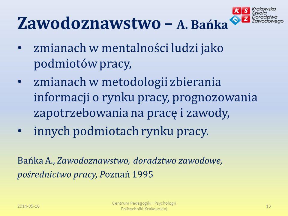 Zawodoznawstwo – A. Bańka