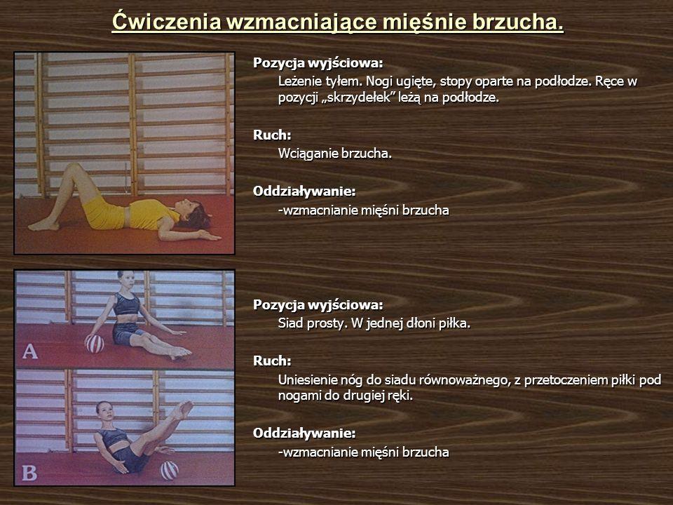 Ćwiczenia wzmacniające mięśnie brzucha.