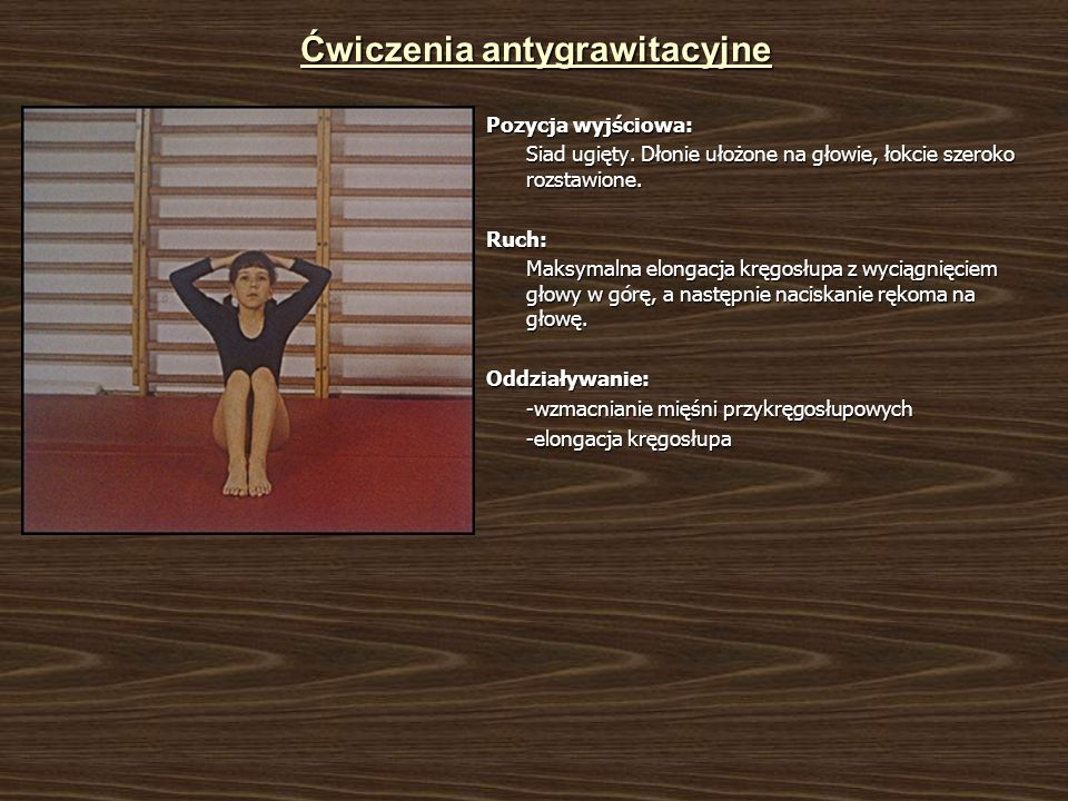 Ćwiczenia antygrawitacyjne