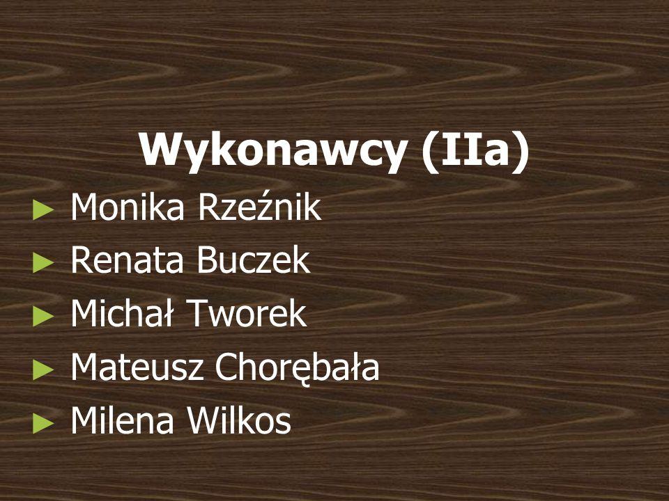 Wykonawcy (IIa) Monika Rzeźnik Renata Buczek Michał Tworek