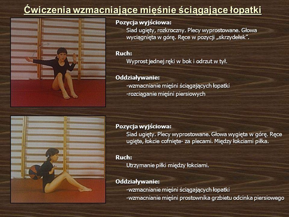 Ćwiczenia wzmacniające mięśnie ściągające łopatki