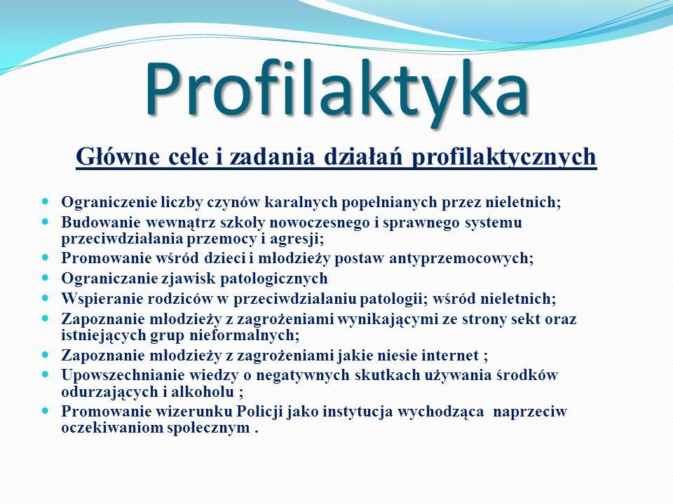 Główne cele i zadania działań profilaktycznych